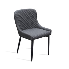 KEMP Dining Chair Velvet Seat - Grey