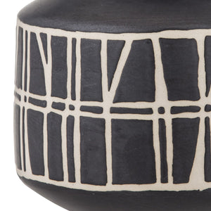 TORI Hand Glazed Ceramic Vase Black