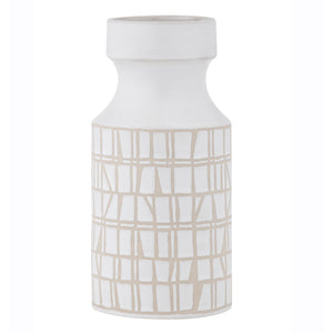 TORI Hand Glazed Ceramic Vase White