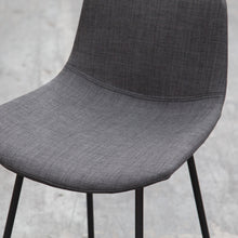 LUCA Bar Stool Fabric Seat Skid Base - Charcoal