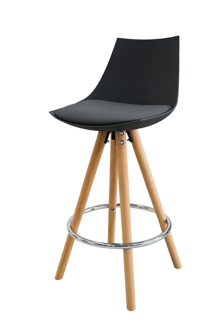 MADDISON High-Back Kitchen Bar Stool - Black