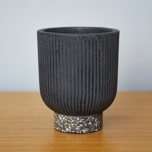 MAZE Ceramic Planter Pot Black - 15cm