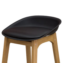NIKO Timber Kitchen Bar Stool - Black