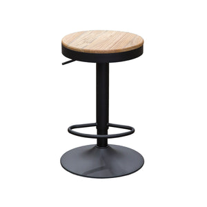 OTIS Bar Stool Timber Seat Gas Lift - Oak