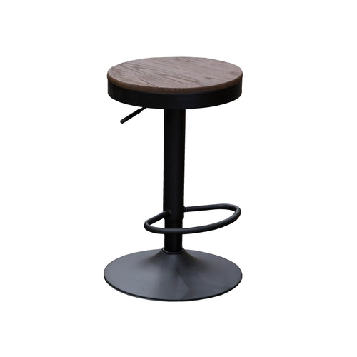 OTIS Bar Stool Timber Seat Gas Lift - Walnut