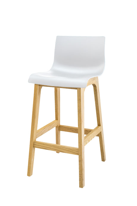 RHEA Timber Kitchen Bar Stool - White