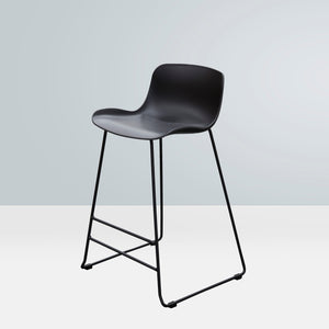 SAGE Bar Stool Acrylic Seat Skid Base - Black