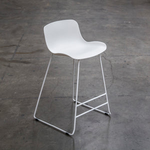 SAGE Bar Stool Acrylic Seat Skid Base - White