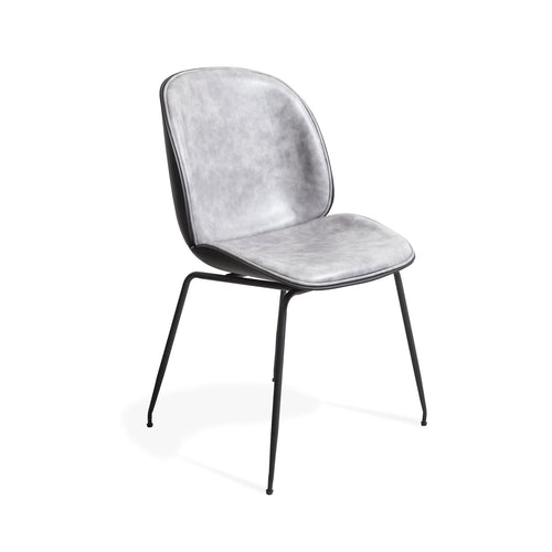 TILGA 01 Padded Dining Chair - Pewter