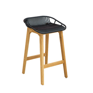 WIRE Timber Kitchen Bar Stool - Black
