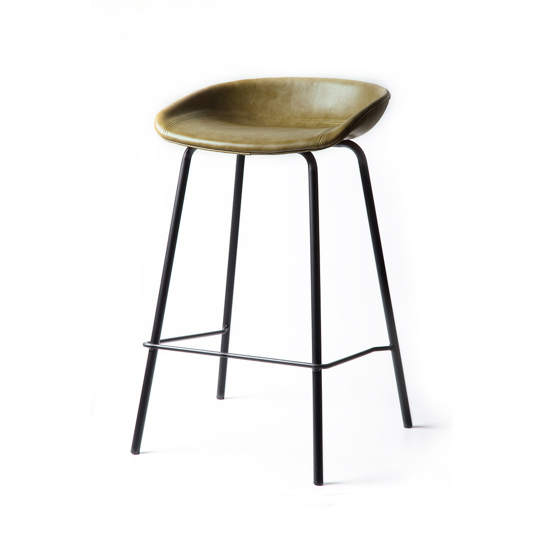 ZEIL Lowback Kitchen Bar Stool Green