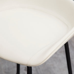 ZEIL Lowback Kitchen Bar Stool - Frost