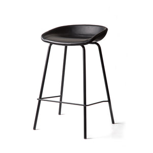 ZEIL Lowback Kitchen Bar Stool Black