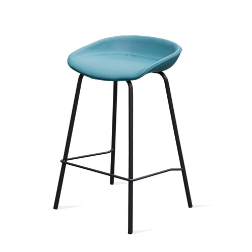 ZEIL Lowback Kitchen Bar Stool - Teal