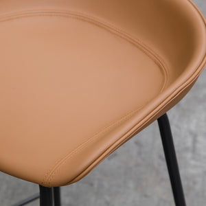 ZEIL Lowback Kitchen Bar Stool - Tan