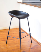 ZEIL Lowback Kitchen Bar Stool - Black