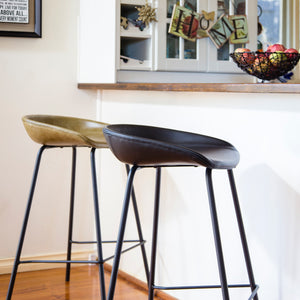 ZEIL Lowback Kitchen Bar Stool Brown