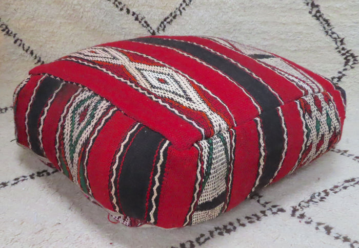Vintage Moroccan Kilim Floor Cushion 016