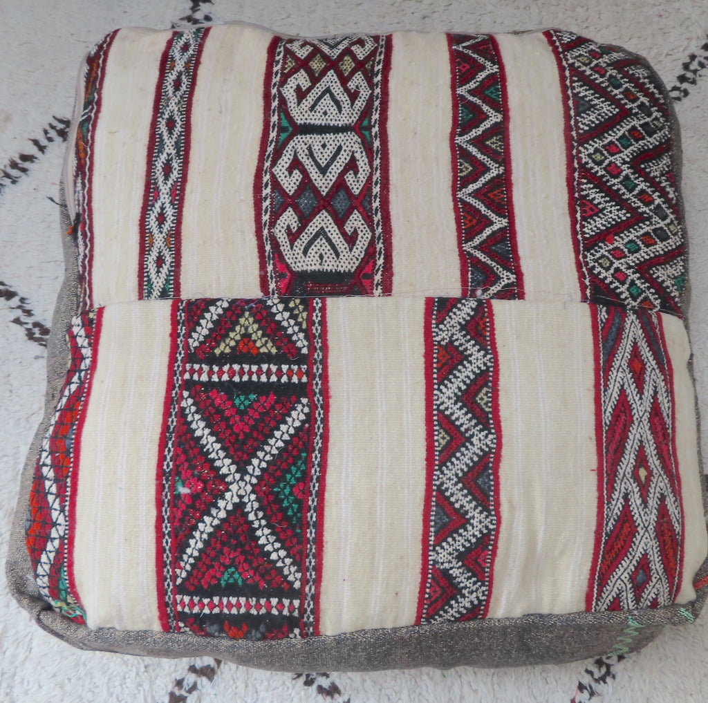 Vintage Moroccan Cactus Silk Floor Cushion 031