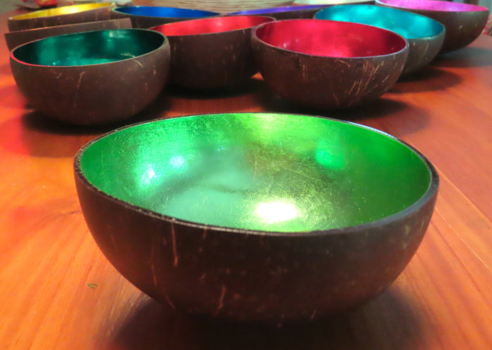 Coconut Shell Bowl-Green