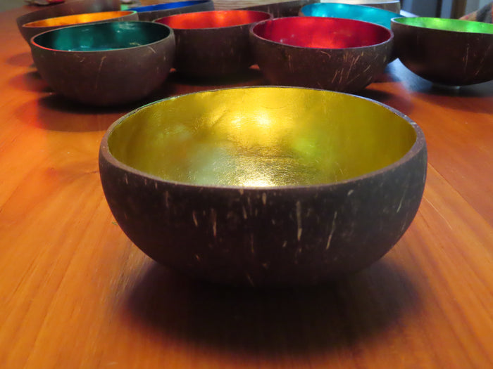 Coconut Shell Bowl-Gold