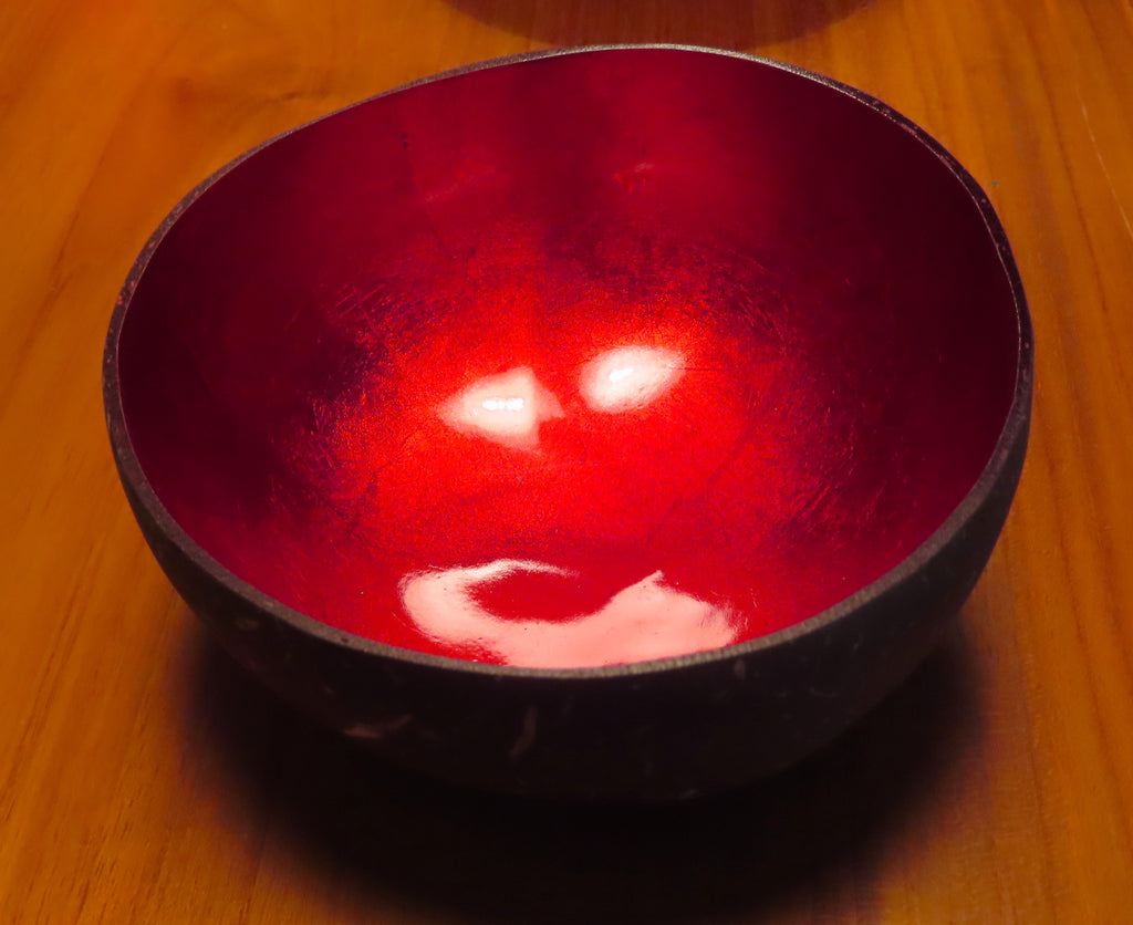 Coconut Shell Bowl-Red