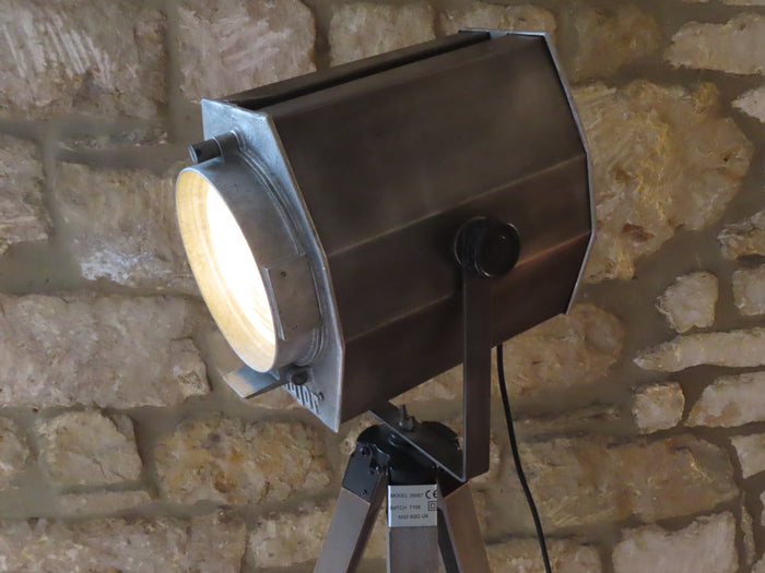 Vintage Major Theatre Fresnel Spotlight