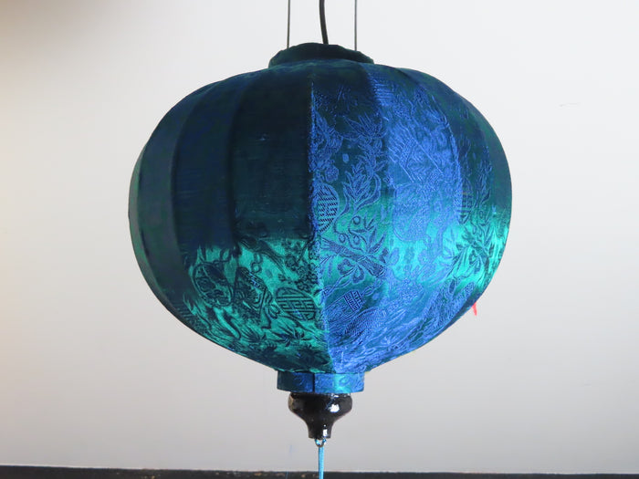 Vietnamese Silk Lantern-Kingfisher Green