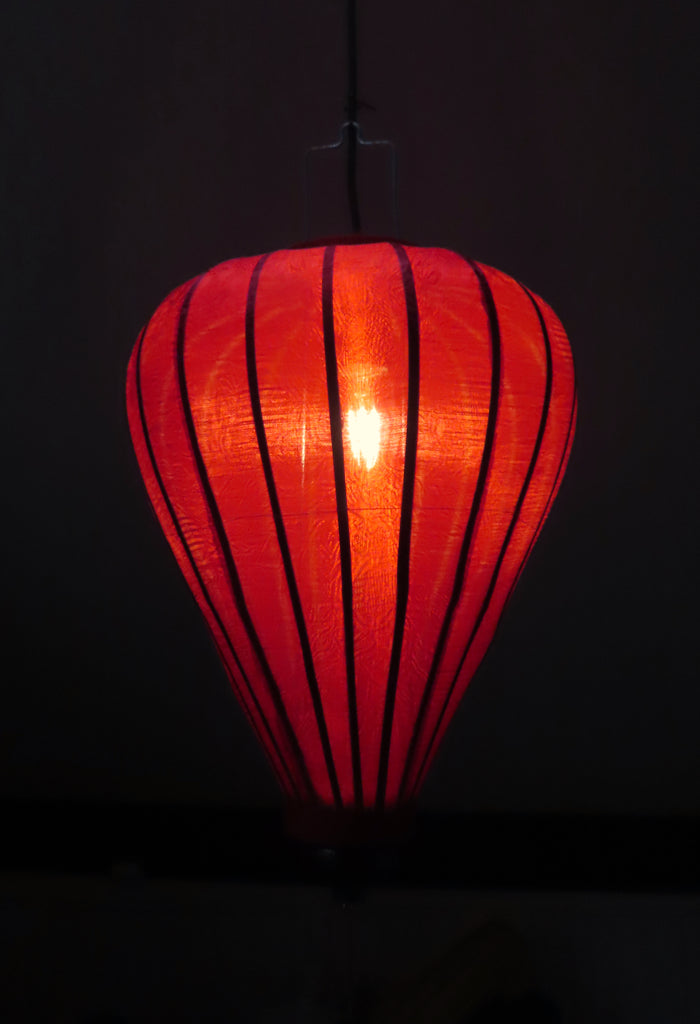 Vietnamese Silk Lantern-Red