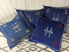 Cactus Silk Cushion-Blue