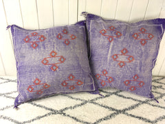 Cactus Silk Cushion-Violet