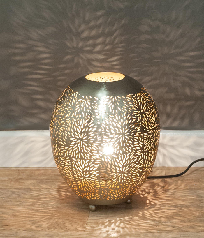 Fez Nickel Balloon Table Lamp-Small