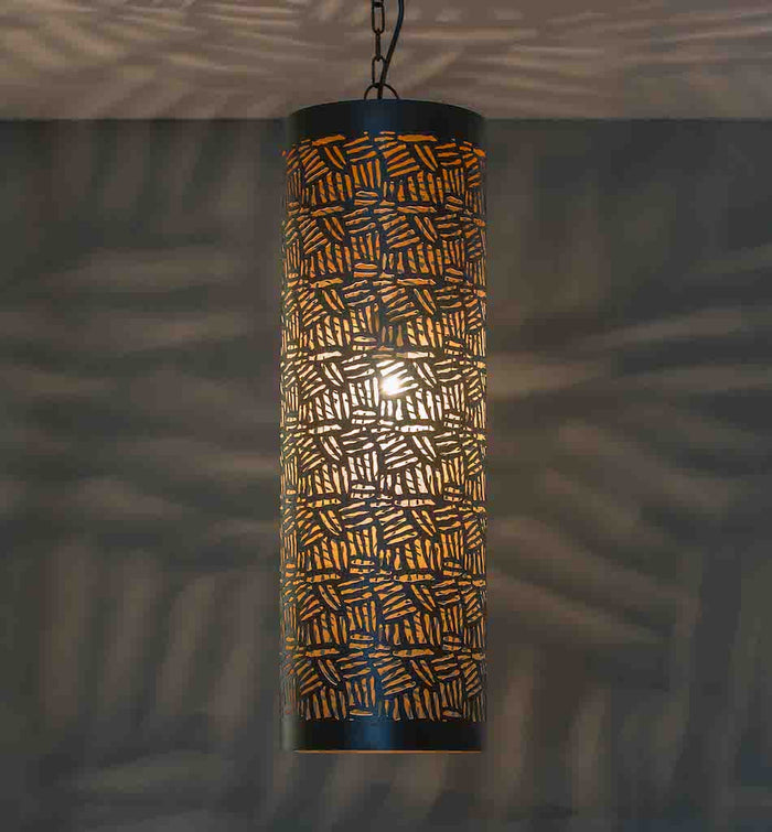 Casablanca Black Pendant Cylinder-Medium
