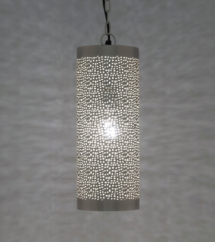 Marrakech Silver - Cylinder Pendant