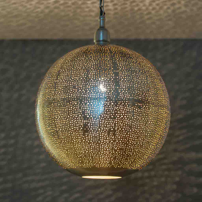 Fez Nickel Ball Pendant-Large
