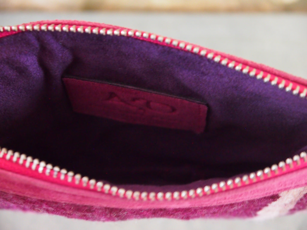 Moroccan Small Kilim Pouch-Pink