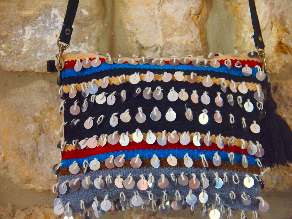 Moroccan Handira shoulder bag