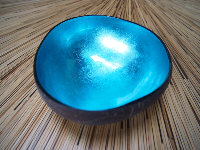 Coconut Shell Bowl-Turquoise