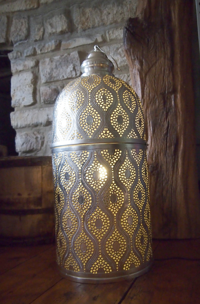 Marrakech Silver - Cylinder Floor Lamp