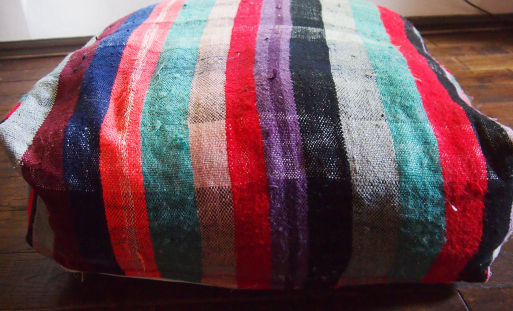 Vintage Moroccan Haik Floor Cushion