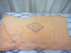 Cactus Silk Cushion-Large -Orange