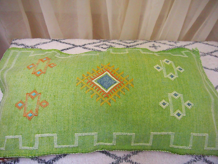 Cactus Silk Cushion-Large -Green