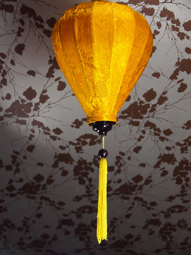 Vietnamese Silk Lantern-Yellow