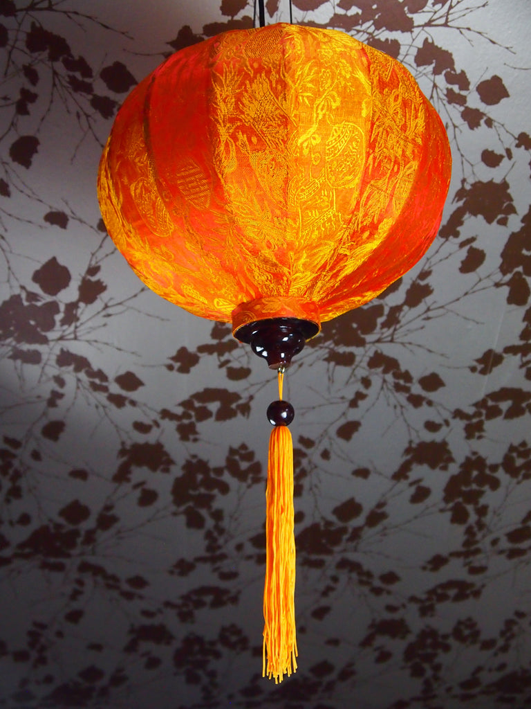 Vietnamese Silk Lantern-Orange