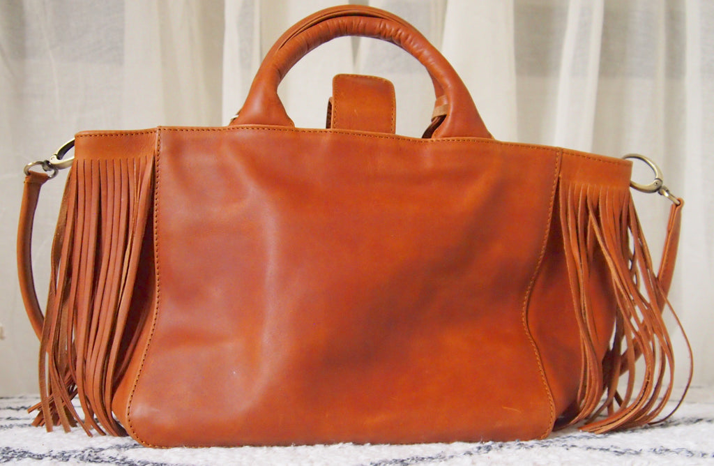 "Virginie Darling "" Baby Darling"" Leather Bag-Natural"