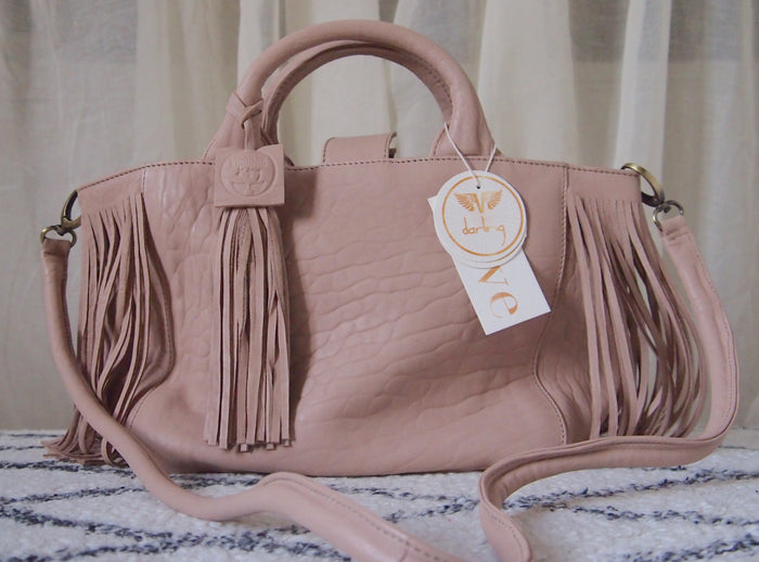 "Virginie Darling "" Baby Darling"" Leather Bag-Chalk"