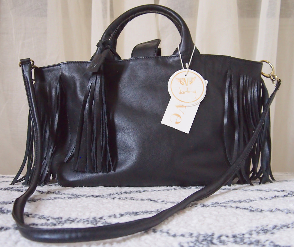 "Virginie Darling "" Baby Darling"" Leather Bag-Black"