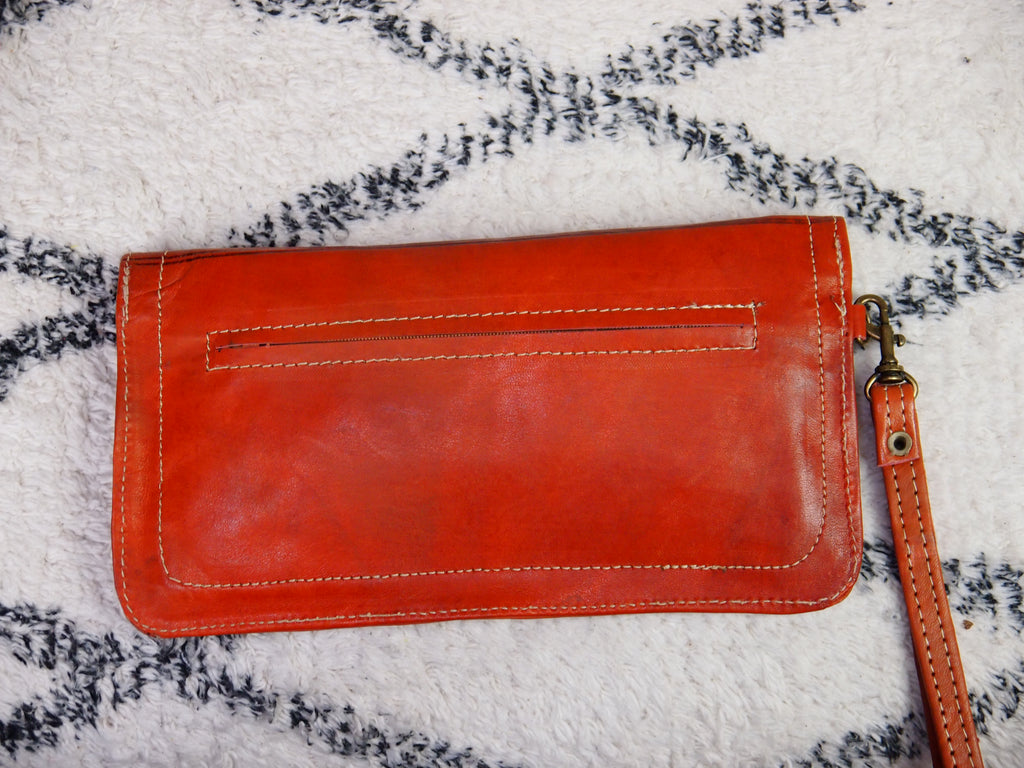 Moroccan Real Leather Kharrazine Clutch/Purse