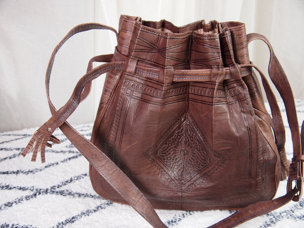 Heritage Tote Embossed Leather Bag