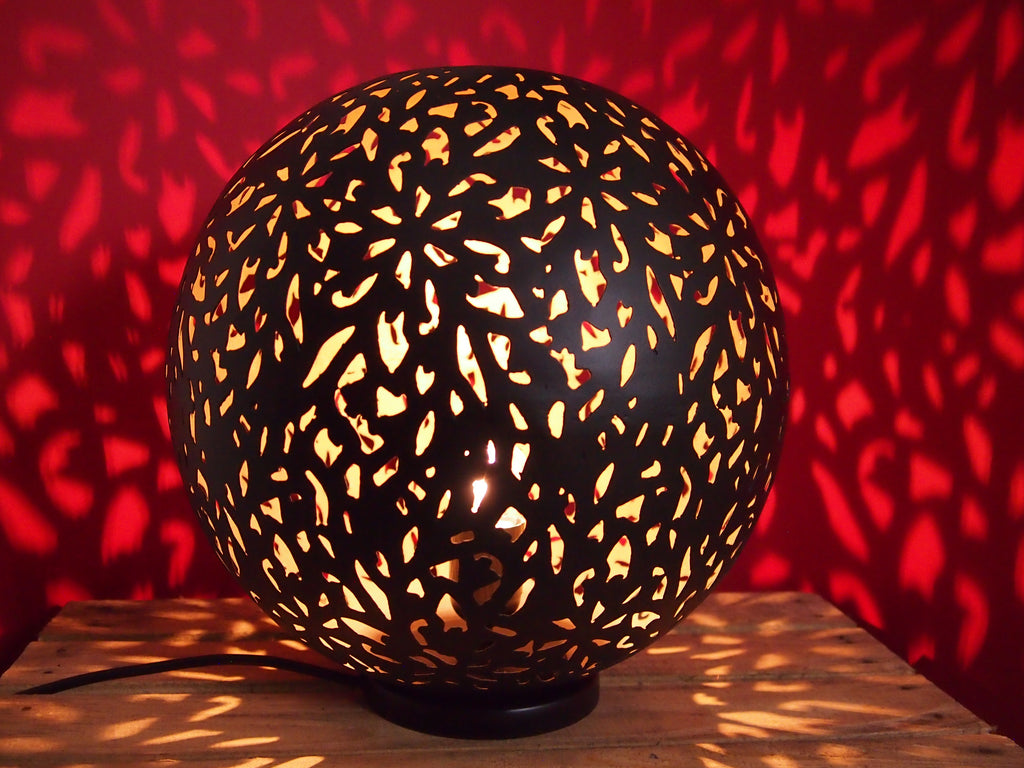 Casablanca Black Globe Table Lamp